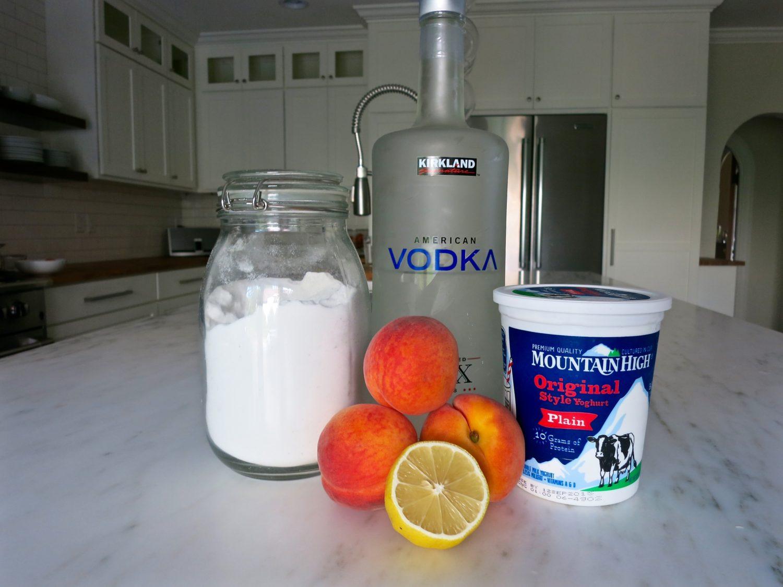 peach frozen yogurt ingredients