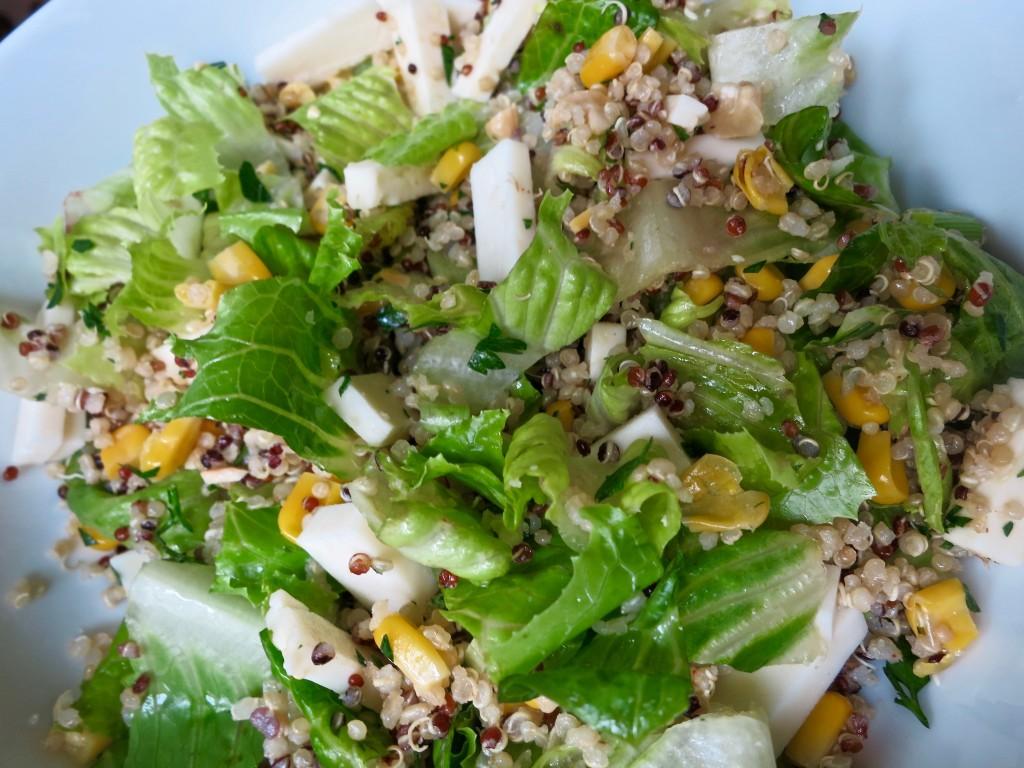 Healthy Diet: Quinoa, Corn, Scallion and Goat Cheese Salad