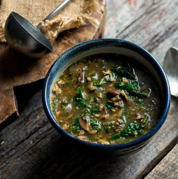 mushroom spinach soup