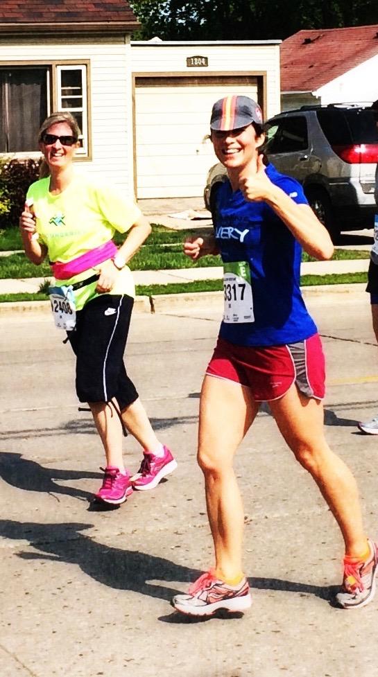 Women running in race
