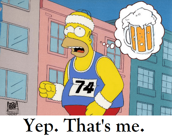 homer simpson run for beer graphic