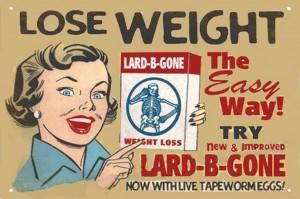 Lose weight lard-b-gone poster