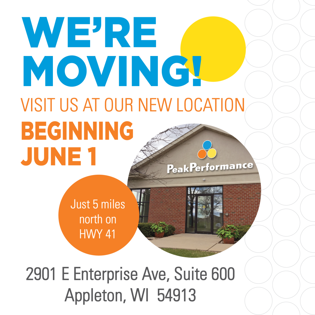 WE'RE MOVING Beginning June 1